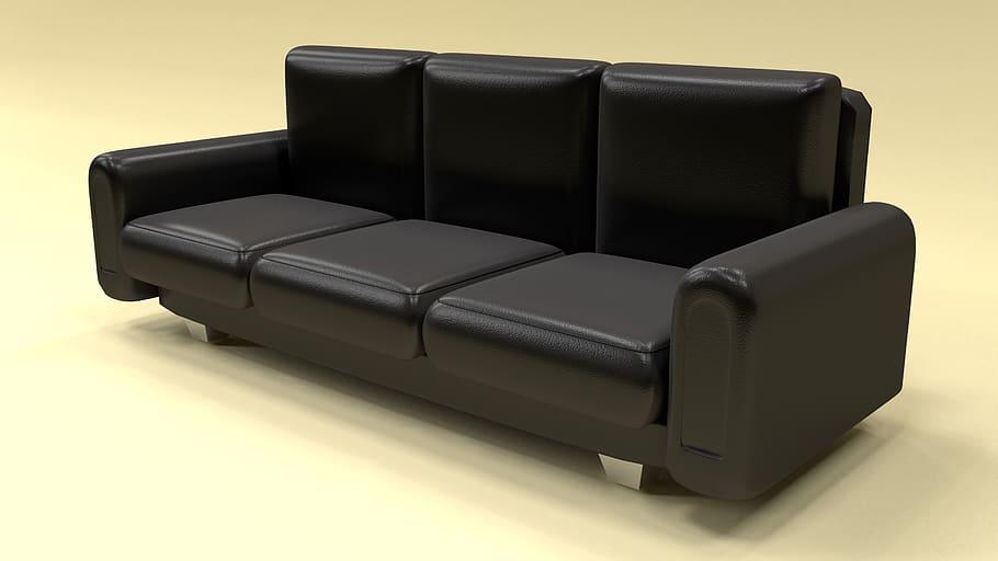 Leather and Wood Sofa Furniture